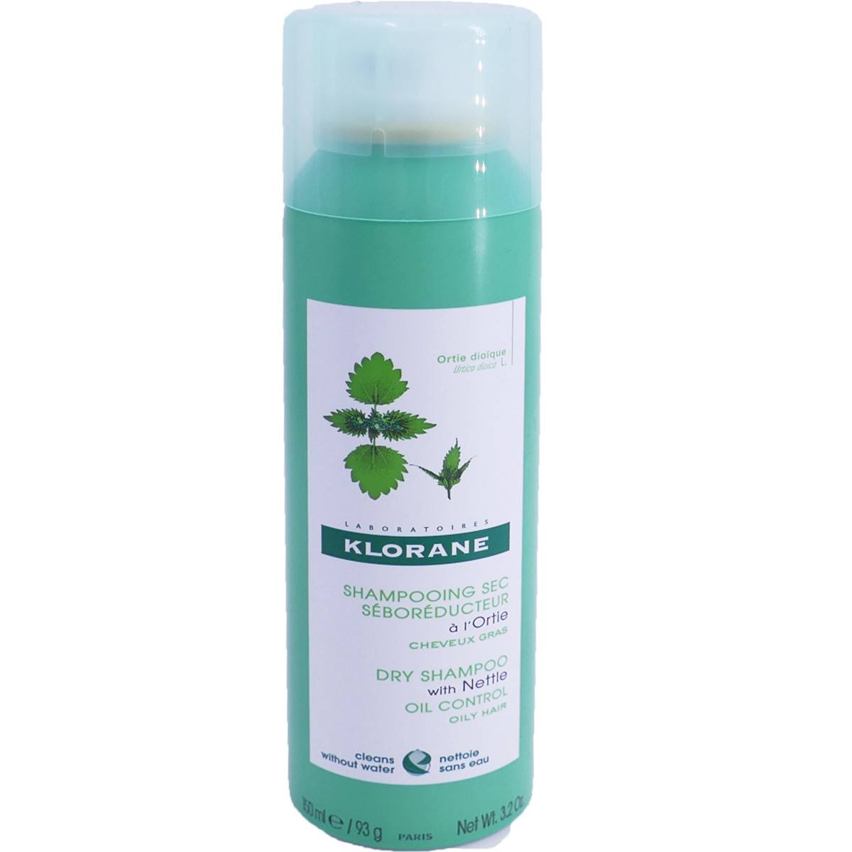 Klorane shampooing sec a l'ortie cheveux gras 150 ml