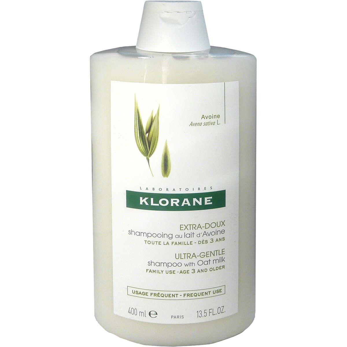 Klorane shampooing au lait d'avoine extra-doux 400ml