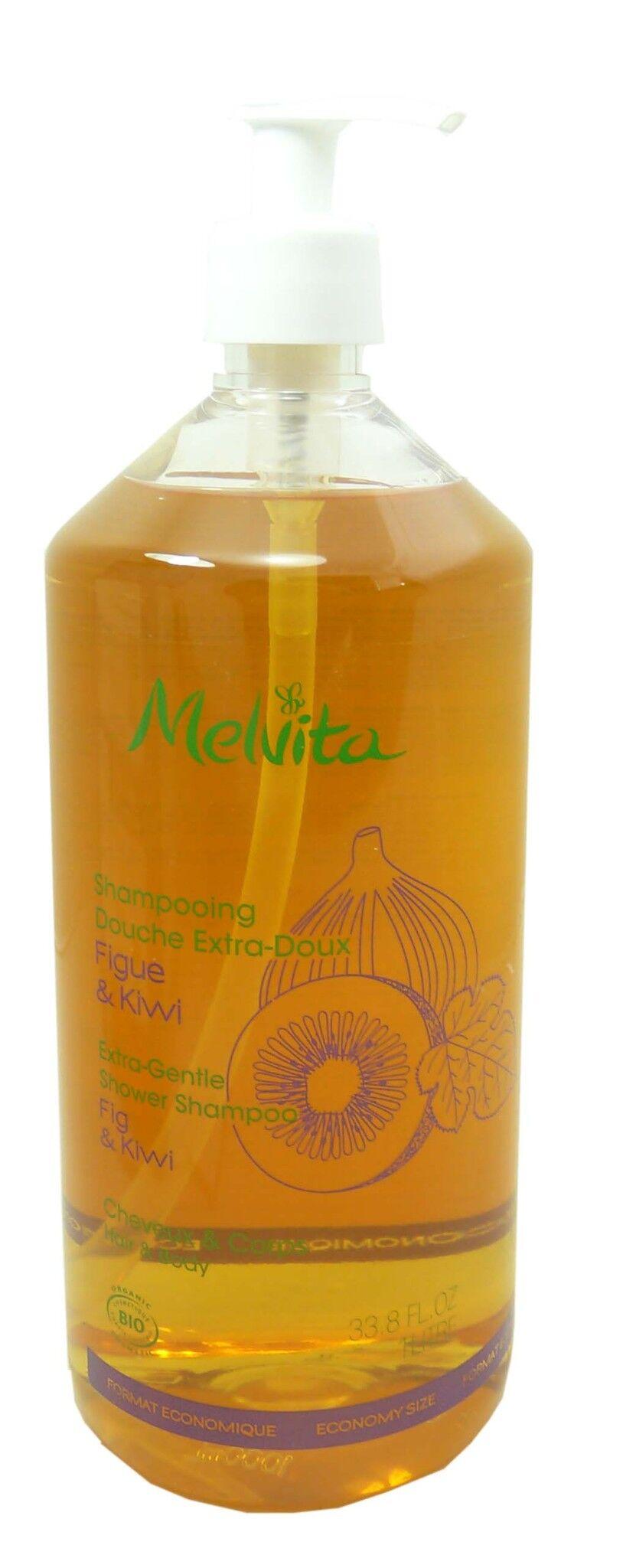 Melvita shampooing cheveux et corps figue kiwi 1l