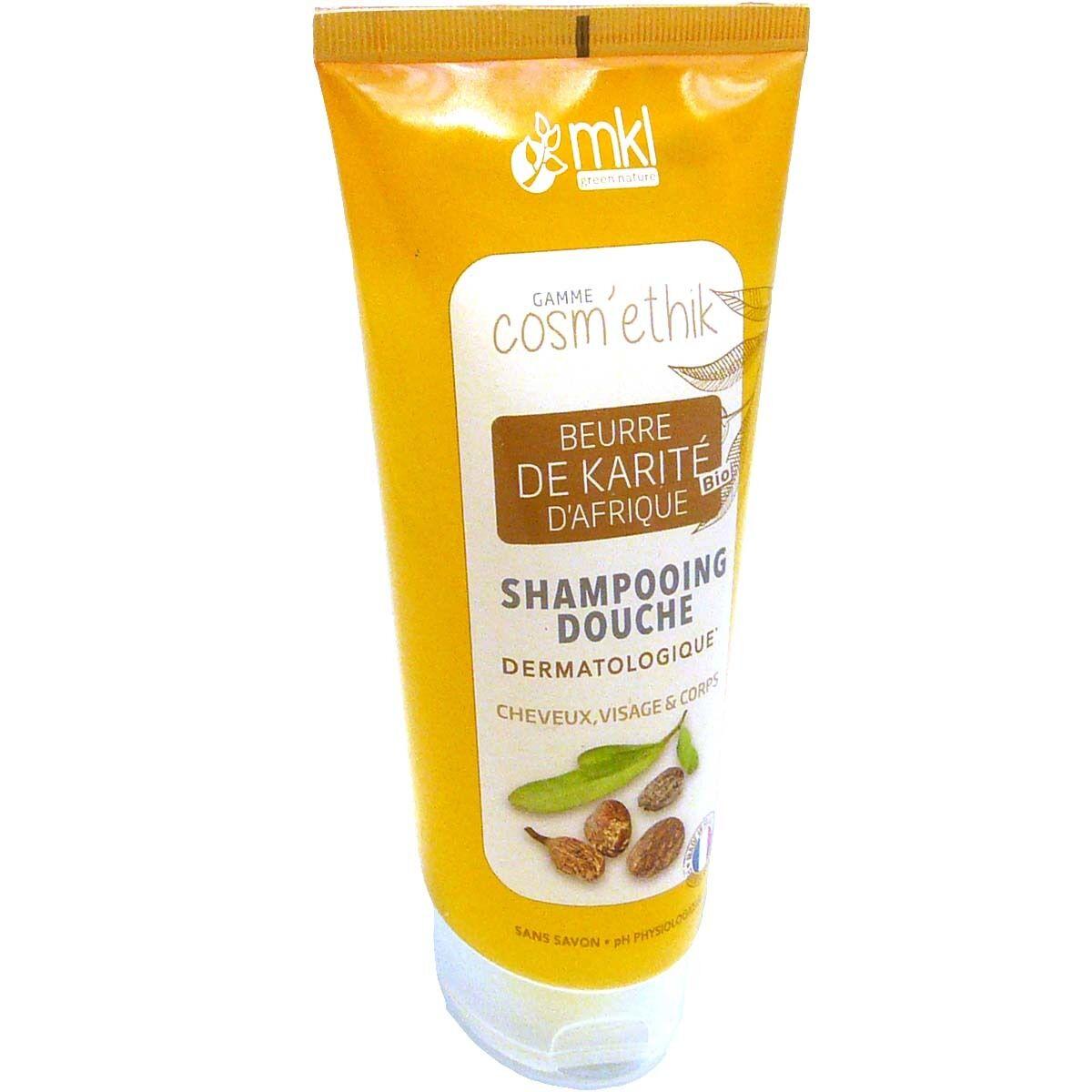 Mkl cosm'ethik shampooing douche au beurre de karite bio 200ml