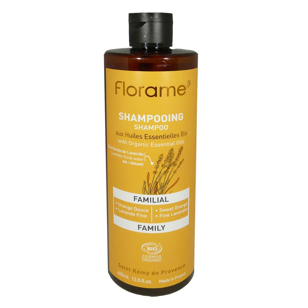 Florame shampooing aux huiles essentielles bio familial 400 ml