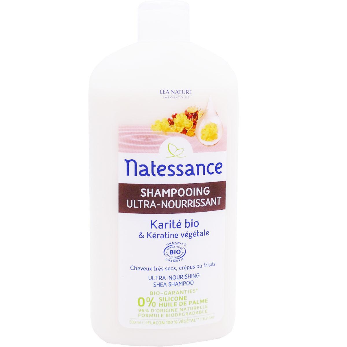 Natessance shampooing karite bio 500 ml