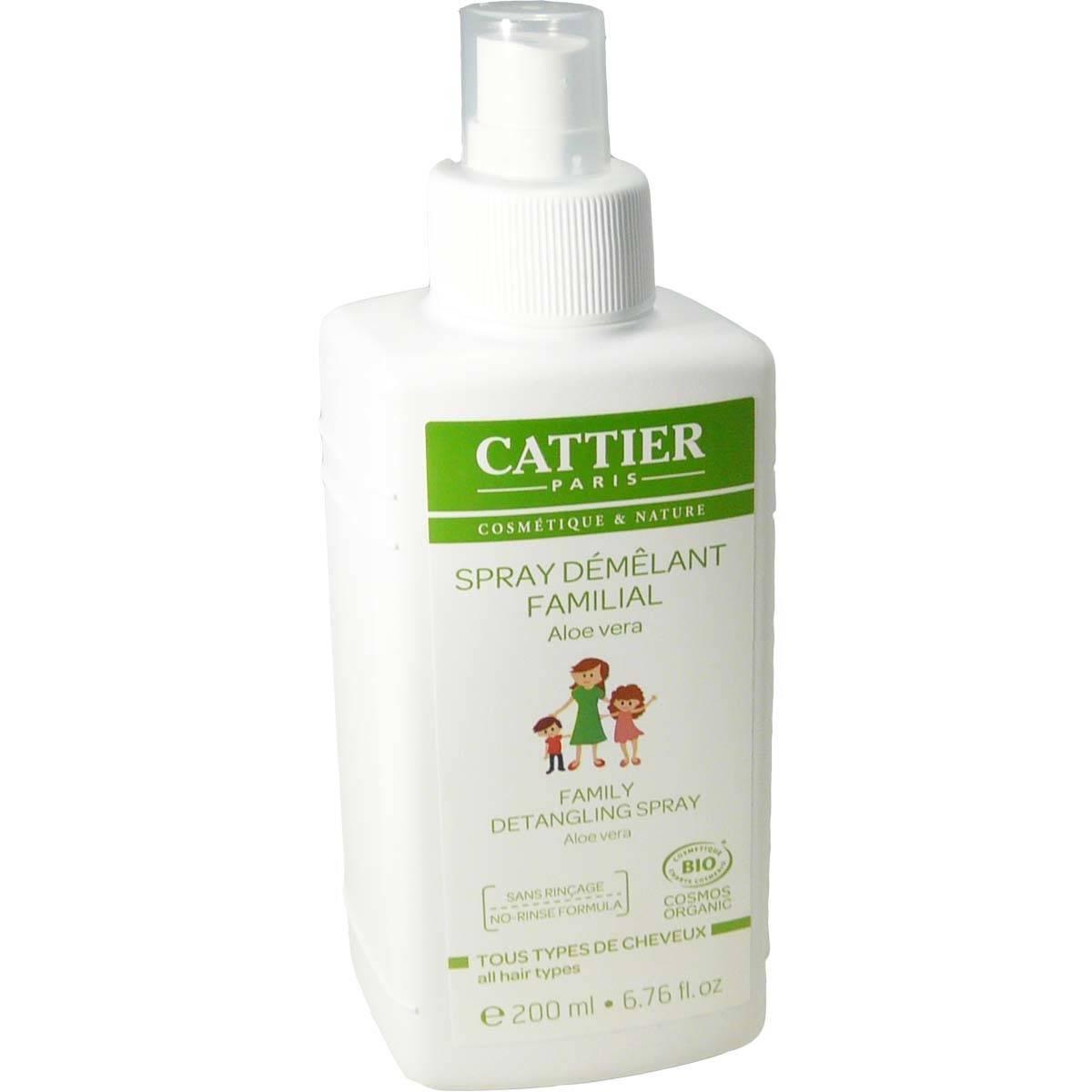 Cattier spray demelant familial a l'aloe vera 200ml