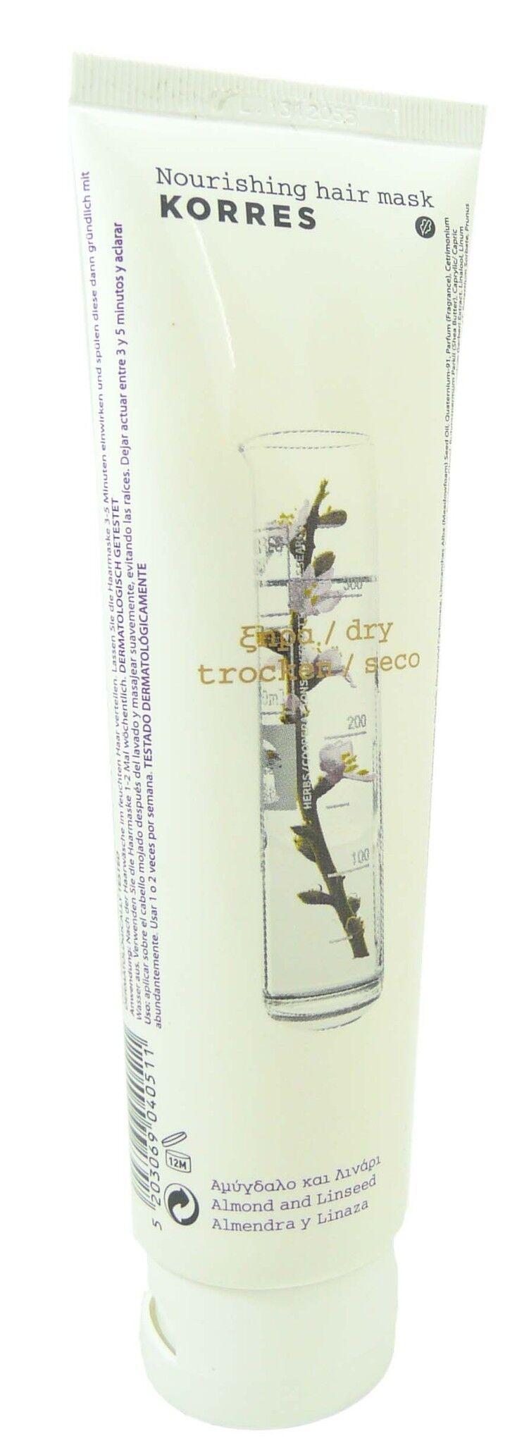 Korres masque amandes & graines de lin 125ml