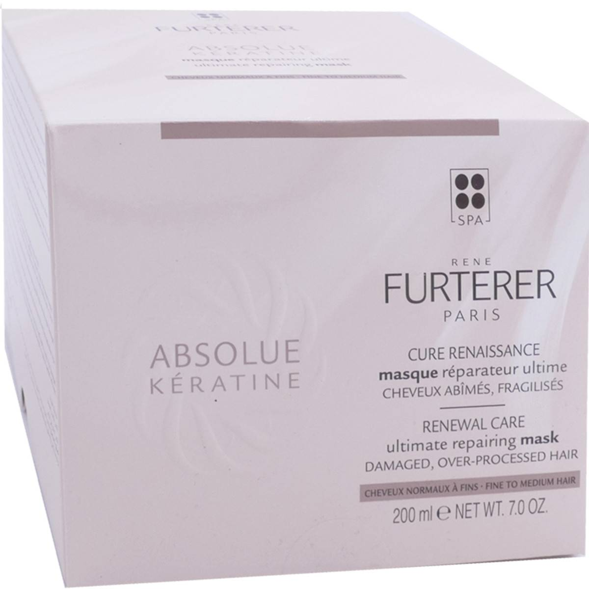 Rene furterer absolue keratine masque 200 ml cheveux normaux a fins