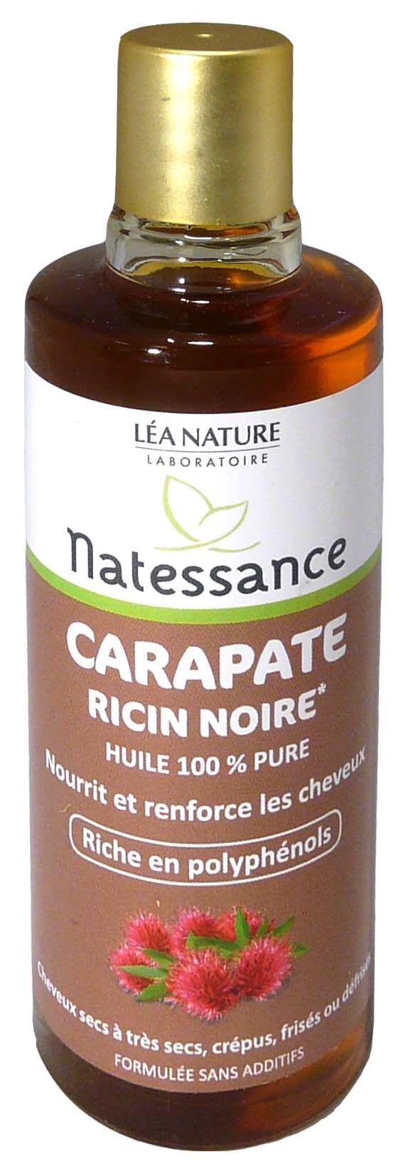 Natessance huile carapate ricin noire 100ml
