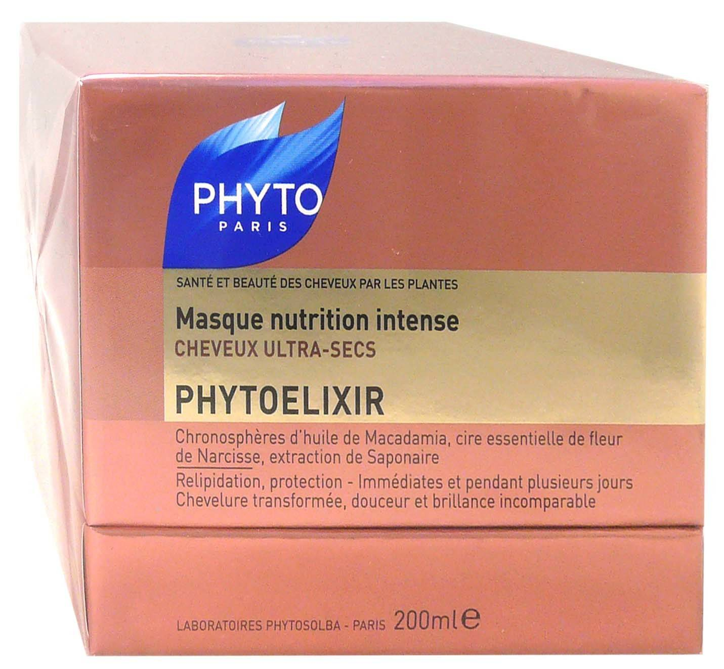 PHYTOSOLBA Phytoelixir masque nutrition cheveux sec 200ml