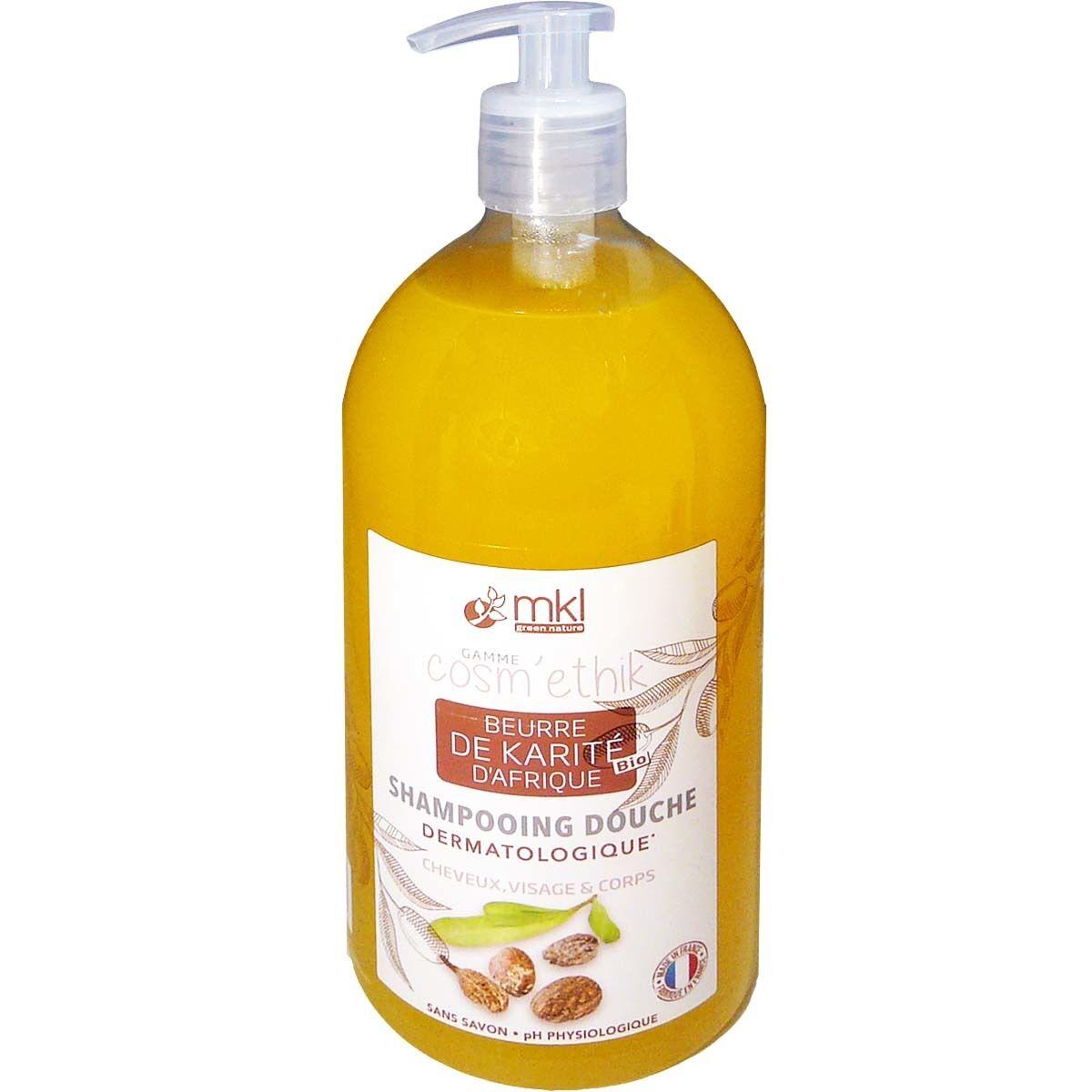 Mkl shampooing-douche beurre de karite bio 1l