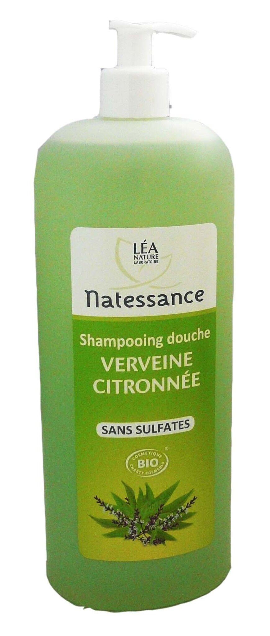 Natessance shampooing douche verveine citronnee 1l