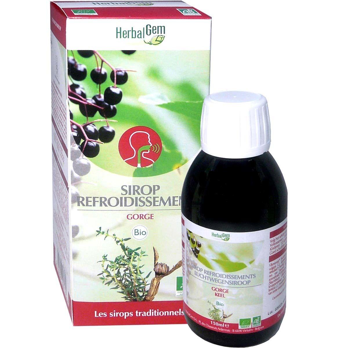 Herbalgem sirop refroidissement gorge bio 150ml