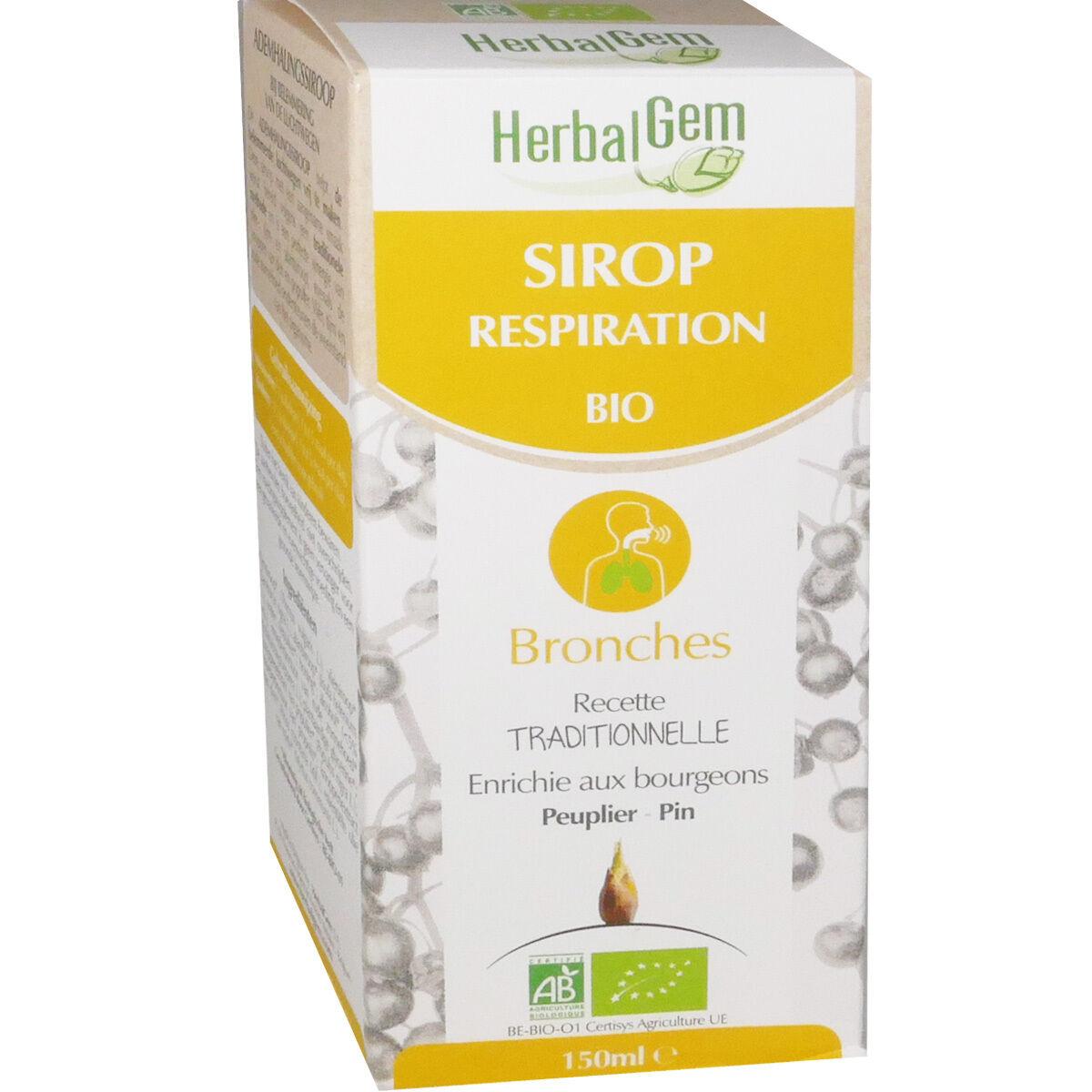Herbalgem sirop respiration bio bronches 150 ml