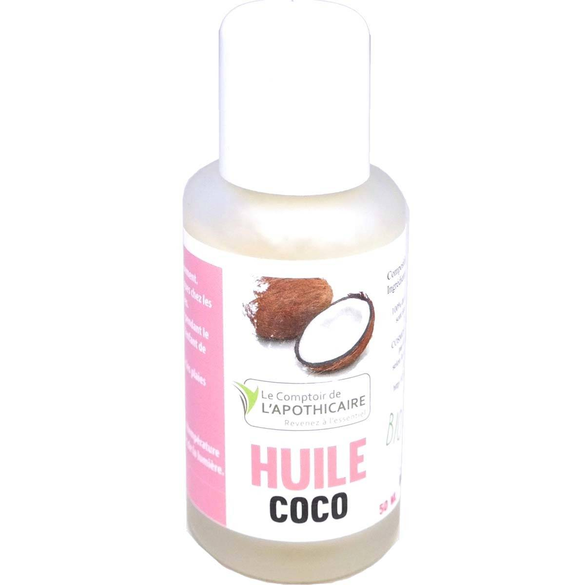 COMPTOIR DE L'APOTHICAIRE Le comptoir de l'apothicaire huile de coco bio 50ml
