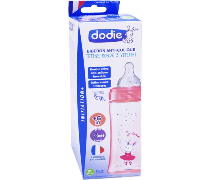 Dodie biberon anti-colique 330 ml initiation +
