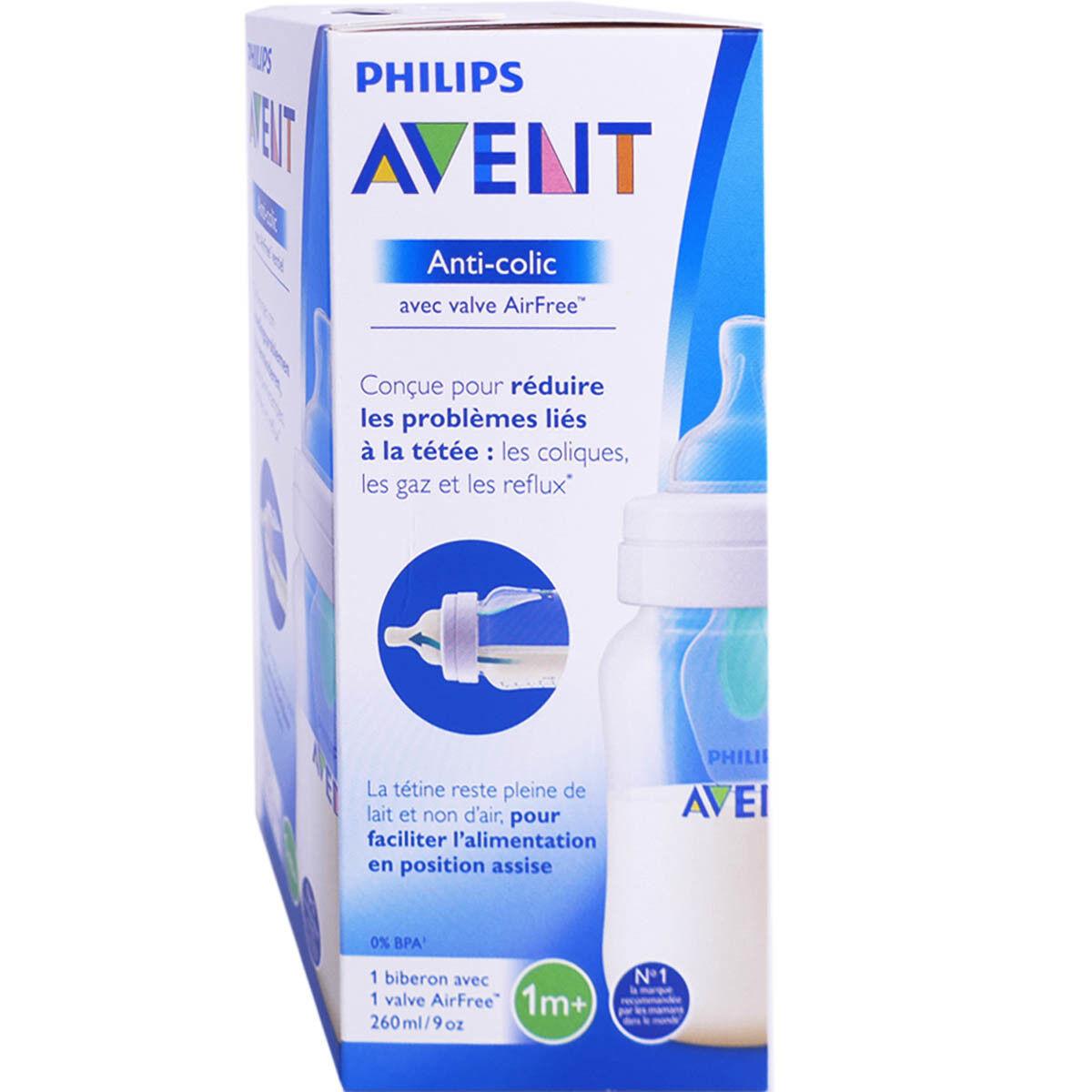 Avent biberon anti colique 1m+ 260ml
