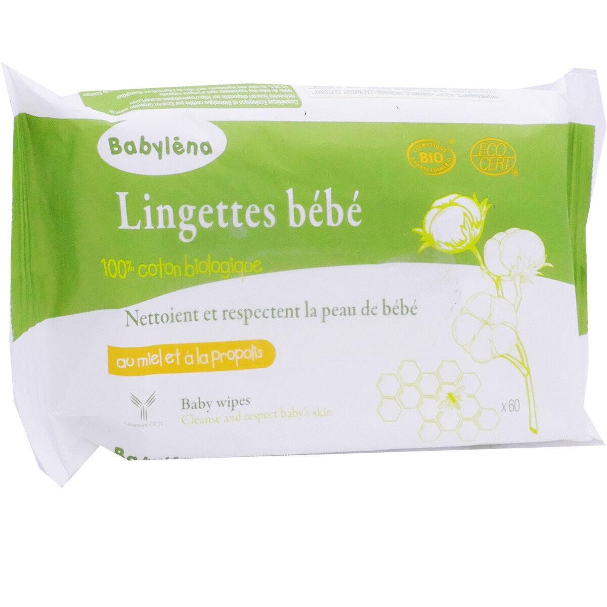 BABYLENA Zero gaspi babylena lingettes bÉbÉ x60 bio
