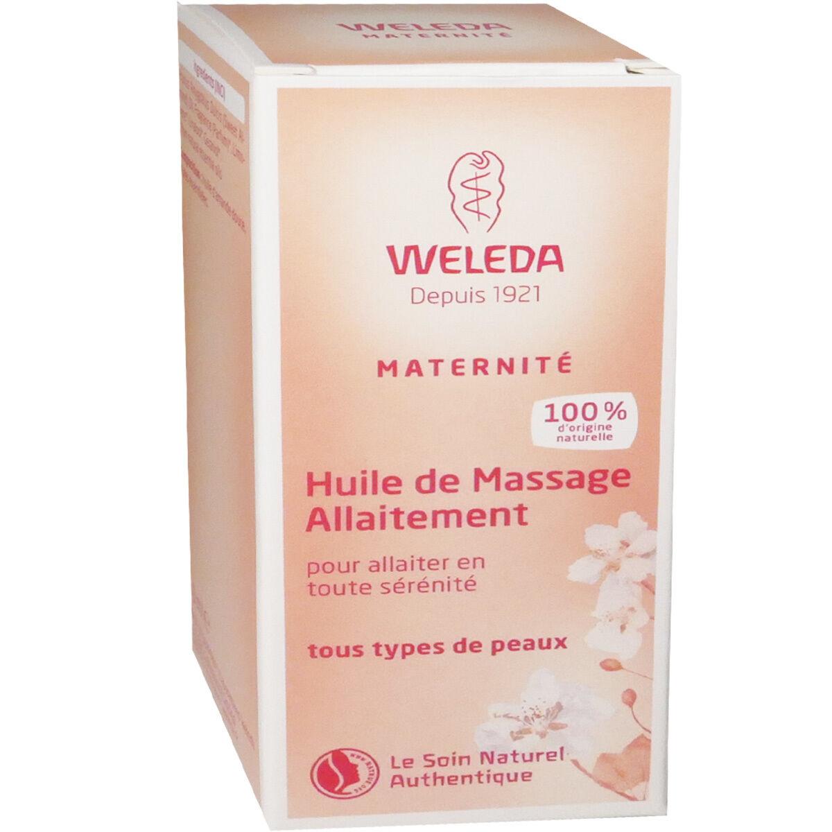Weleda huile de massage allaitement 50 ml