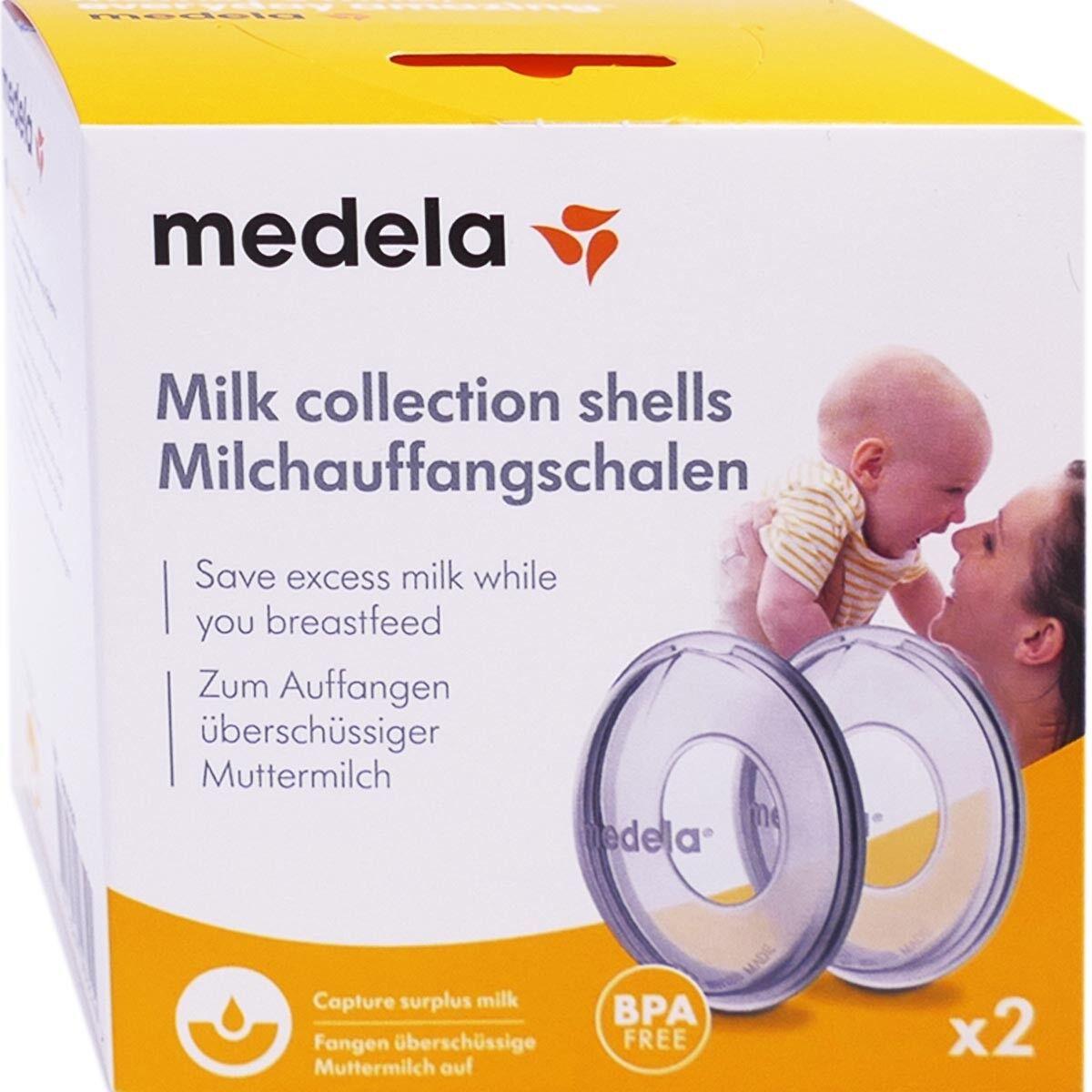Medela coquille recueille lait x2