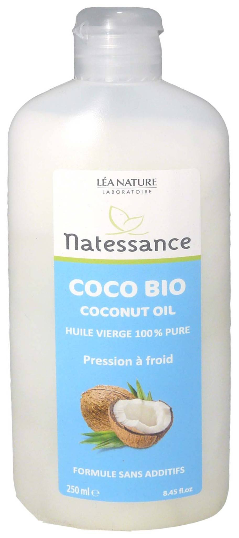Natessance huile vierge de coco bio 250 ml