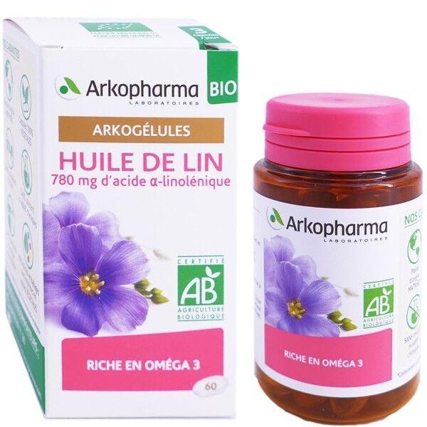 Arkopharma huile de lin bio 60 arkogelules