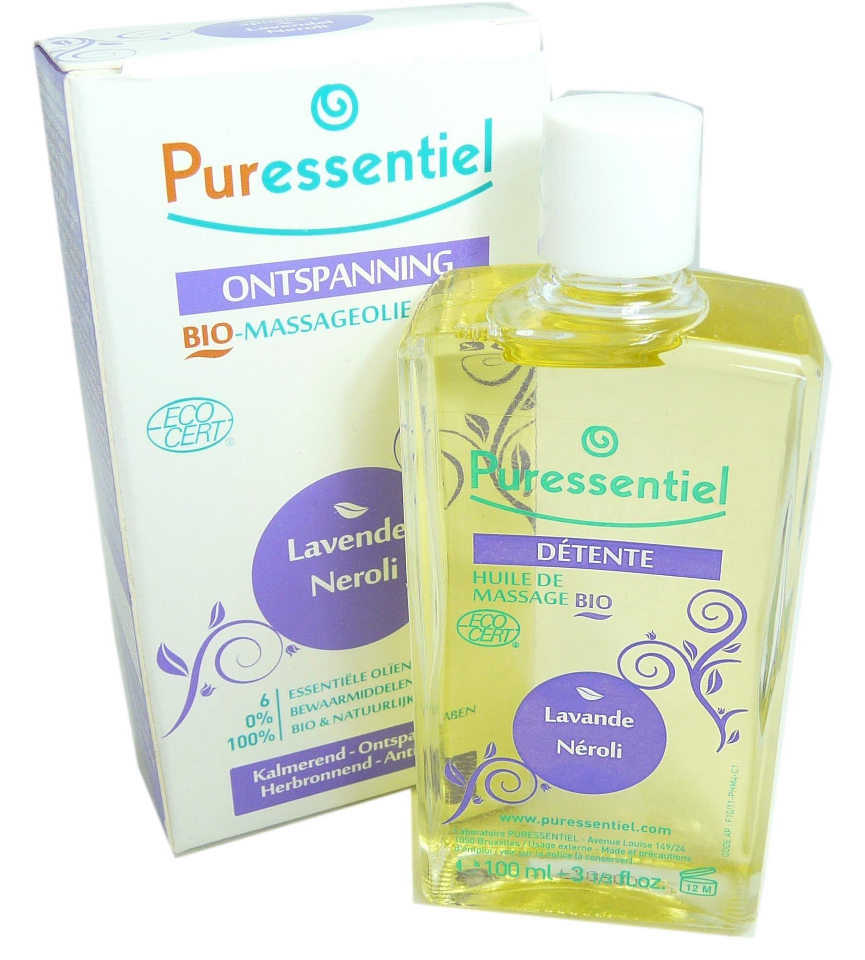 Puressentielle huile massage detente lavande 100ml