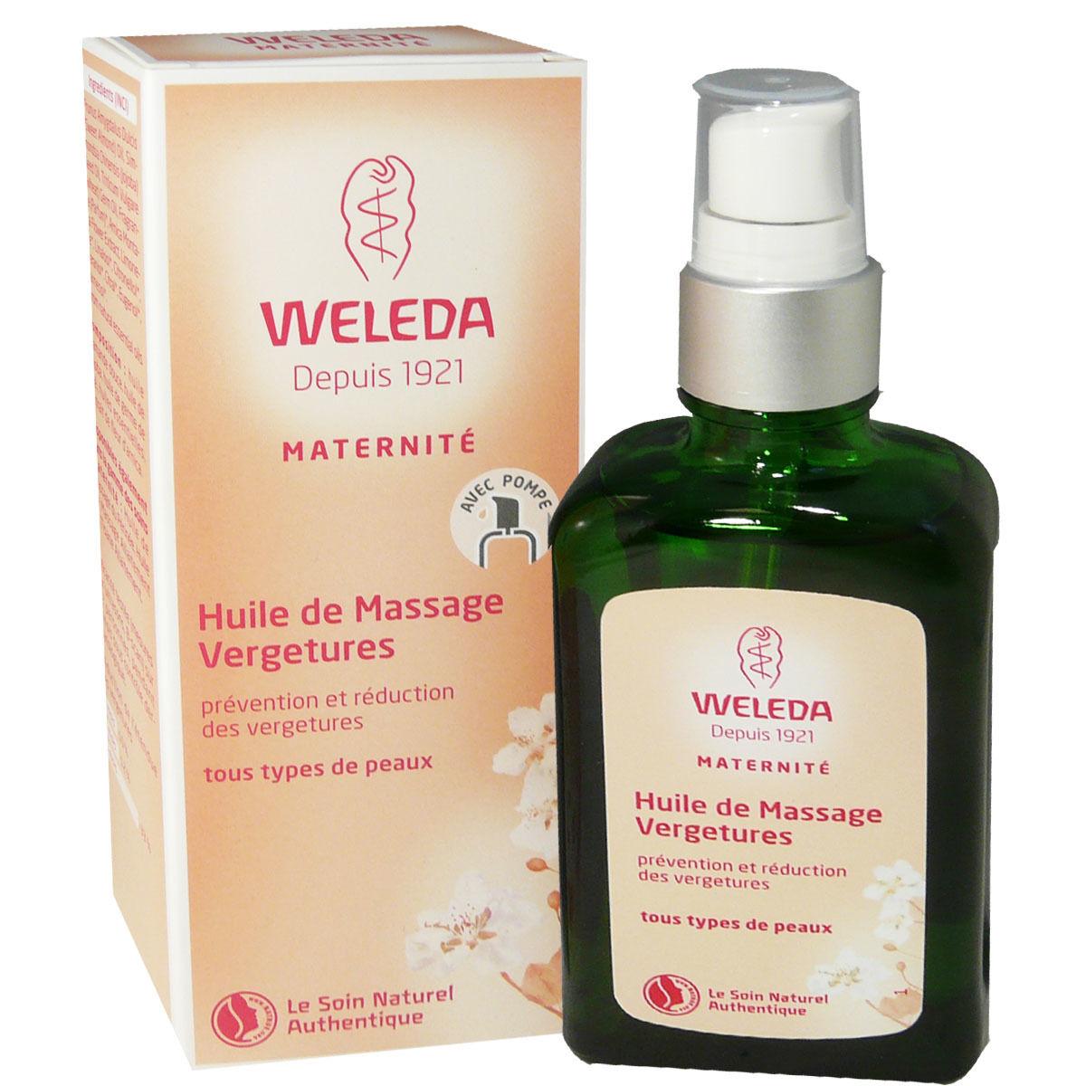 Weleda huile de massage vergetures maternite 100 ml