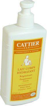 Cattier bio lait corps hydratant the agrumes 500ml