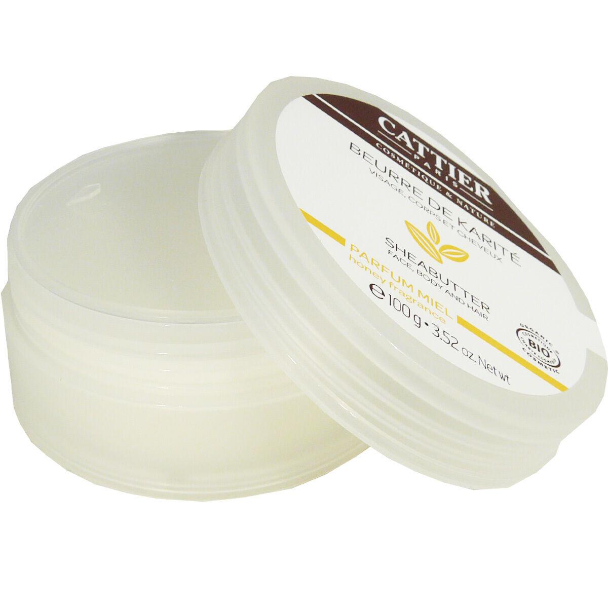 Cattier beurre de karite parfum miel 100g