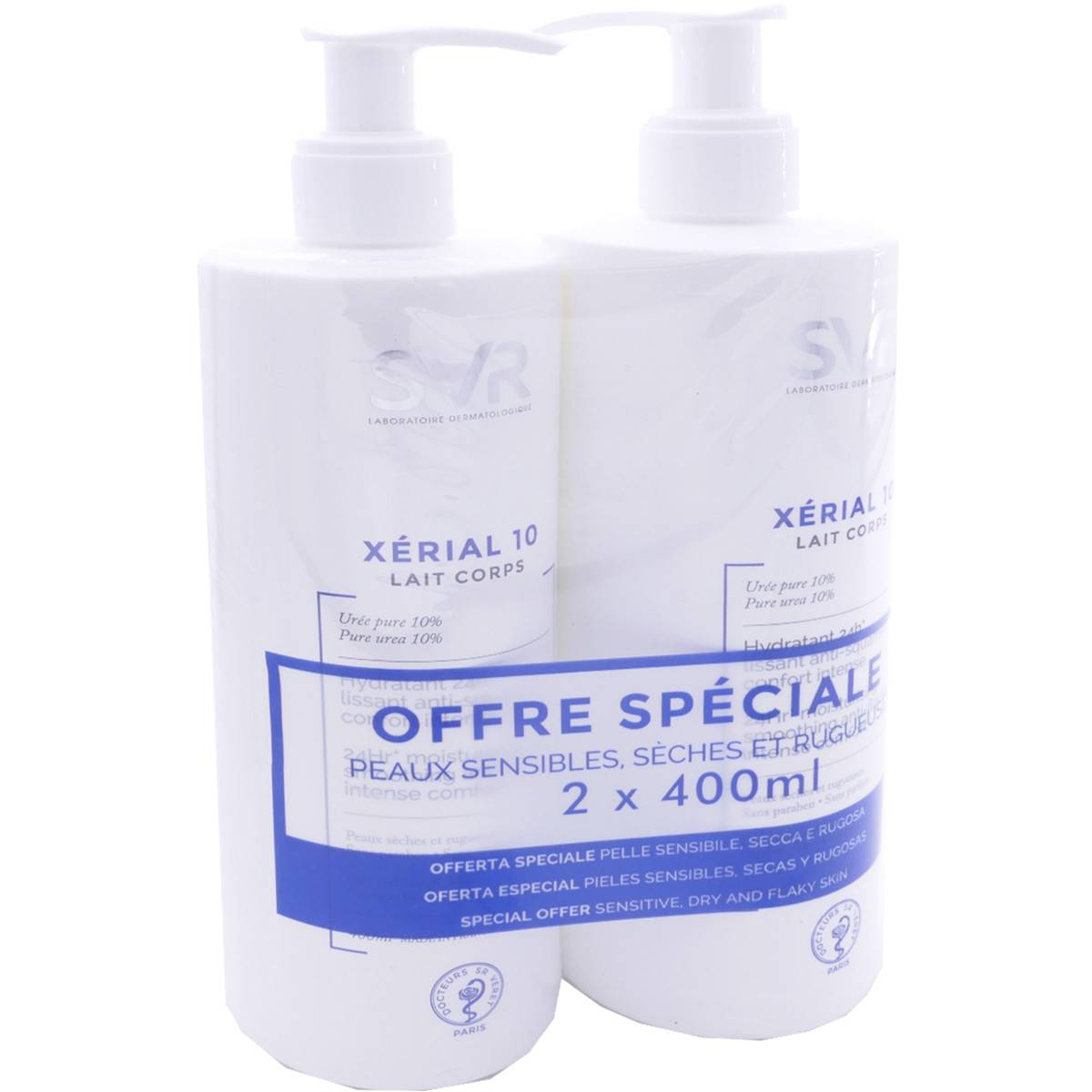 Svr xerial 10 lait corps 2x 400 ml