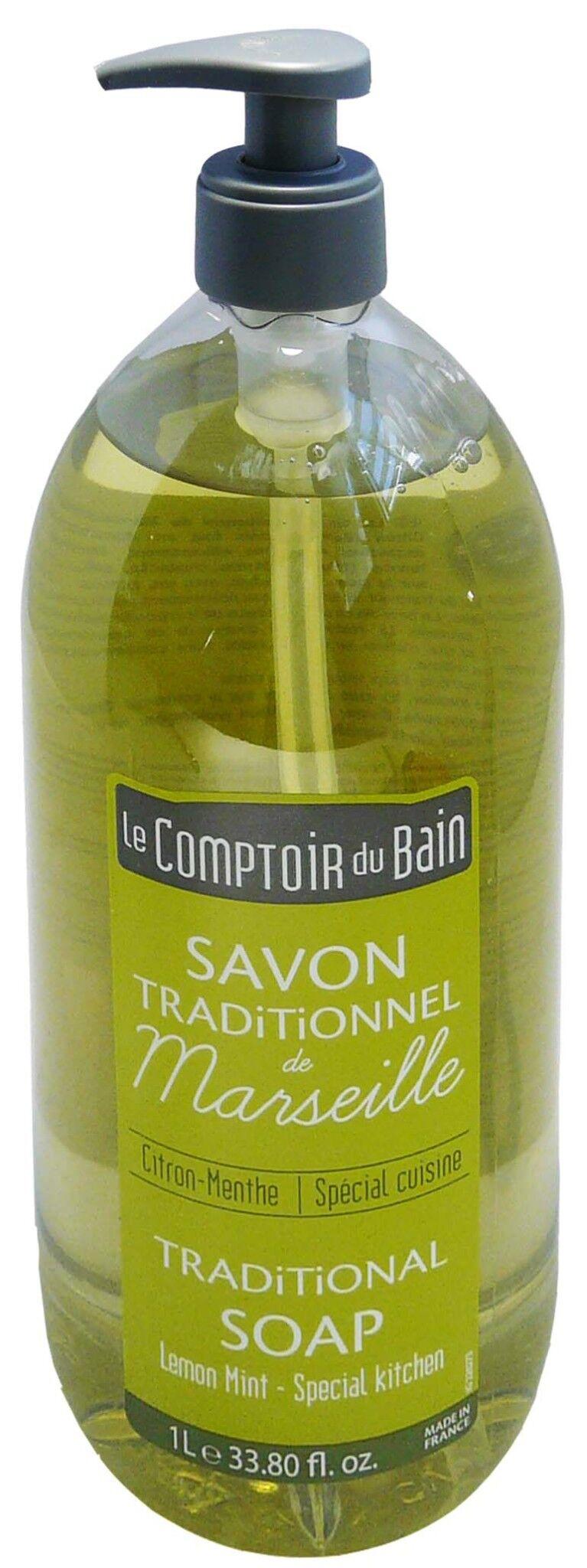 Le comptoir du bain savon de marseille citron-menthe 1l