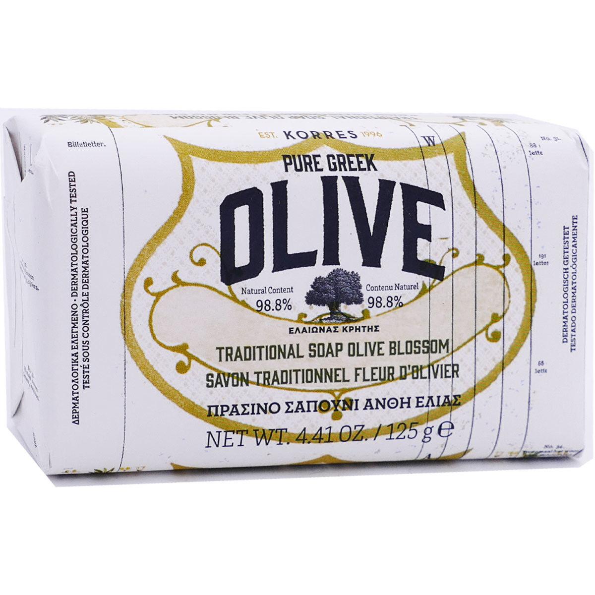 Korres savon fleur d'olivier 125 g