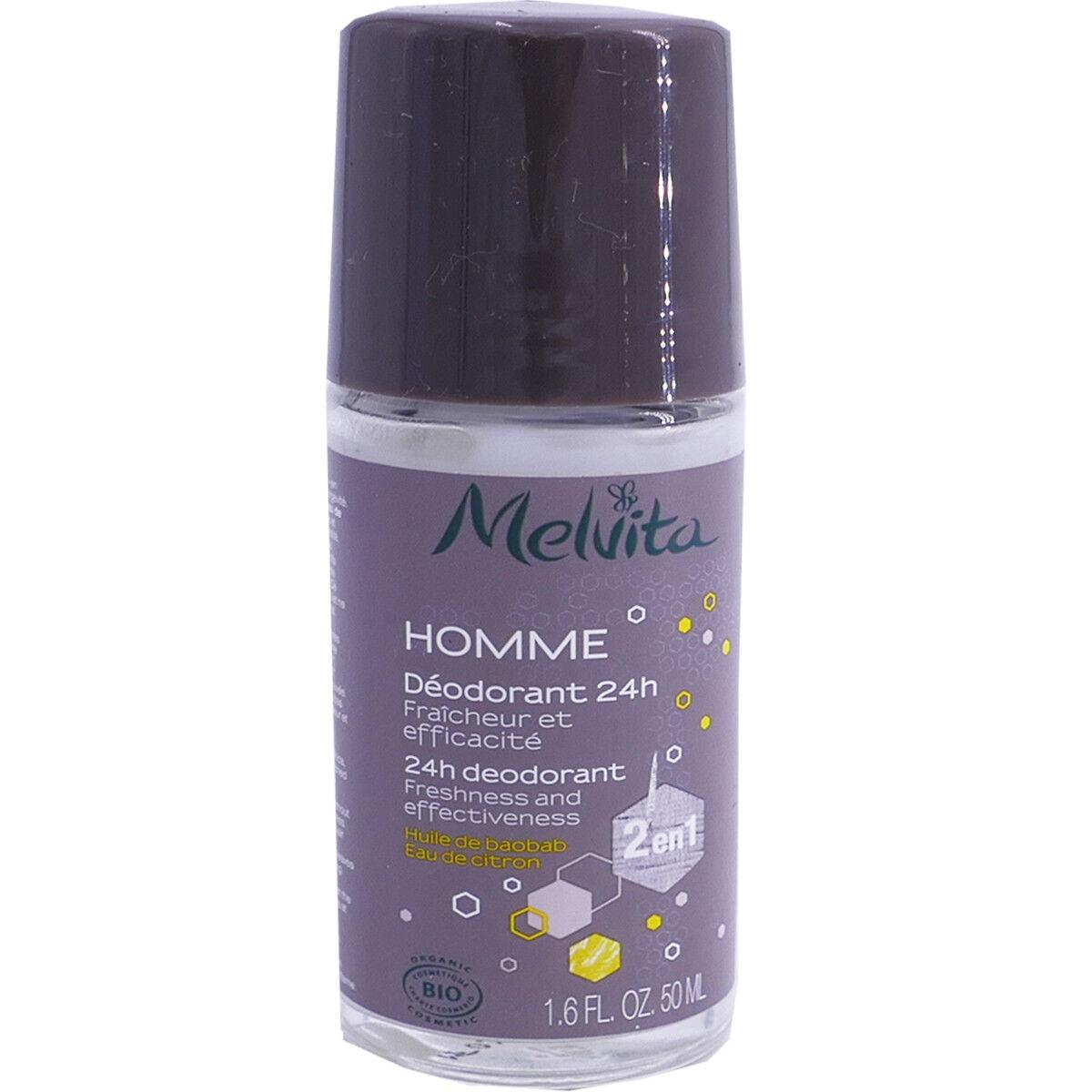 Melvita homme deodorant 24h 50 ml