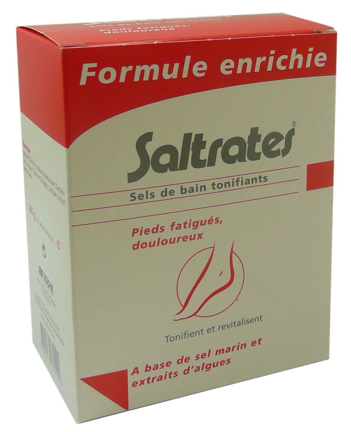 DIVERS Saltrates sels de bain tonifiants formule enrichie 10 sachets