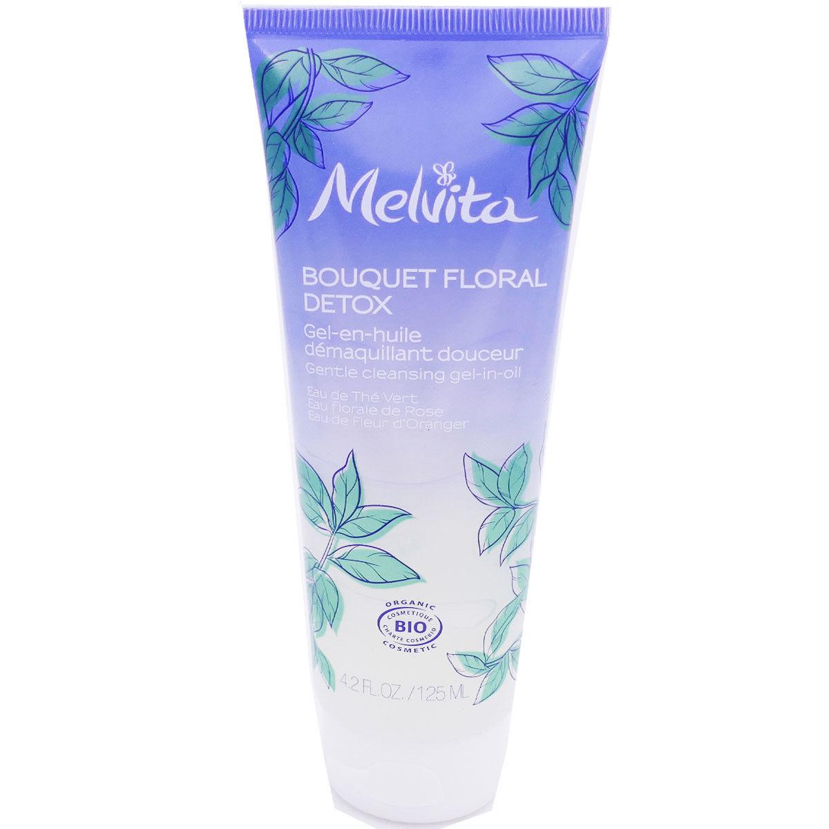 Melvita bouquet floral detox gel en huile dÉmaquillante 125ml