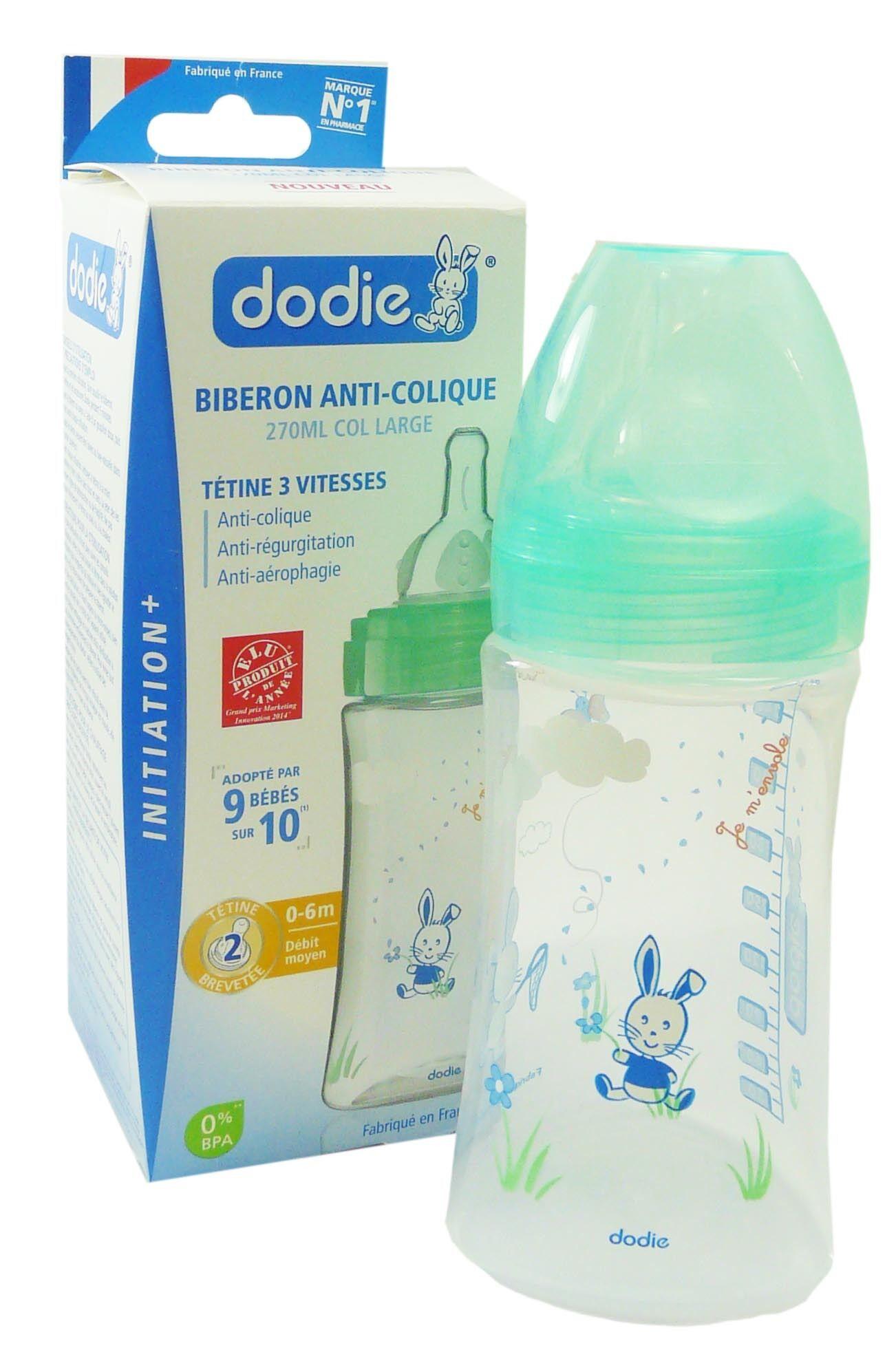 Dodie biberon anti colique initiation debit 2 270ml