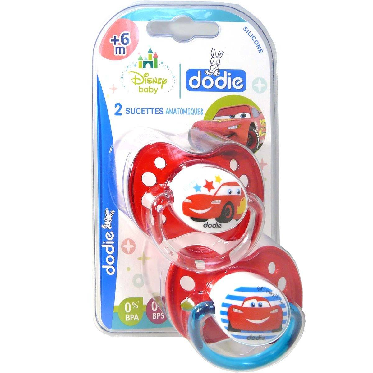 Dodie sucette anatomique silicone cars +6m