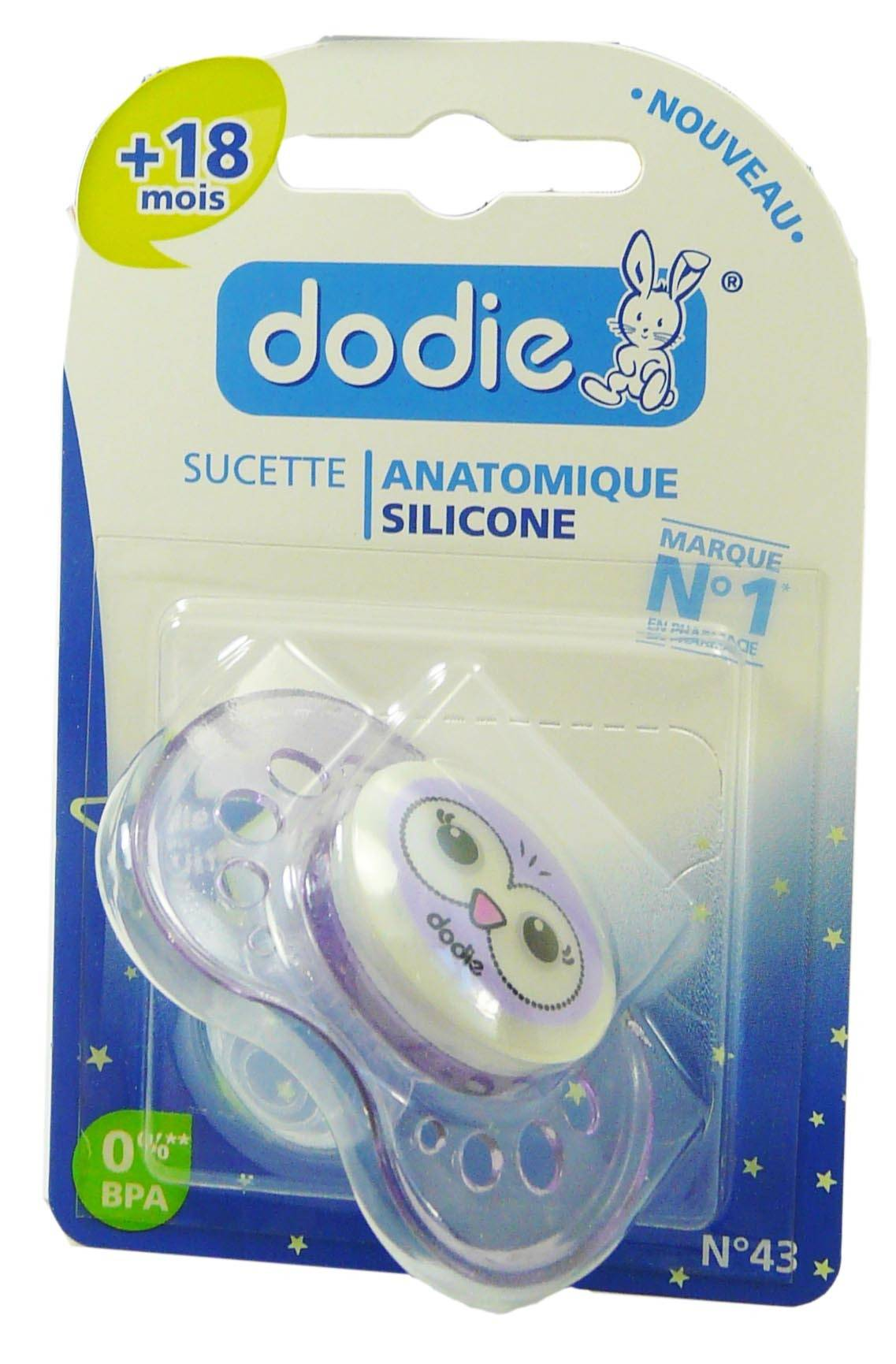 Dodie sucette anatomique silicone +18 mois n°43