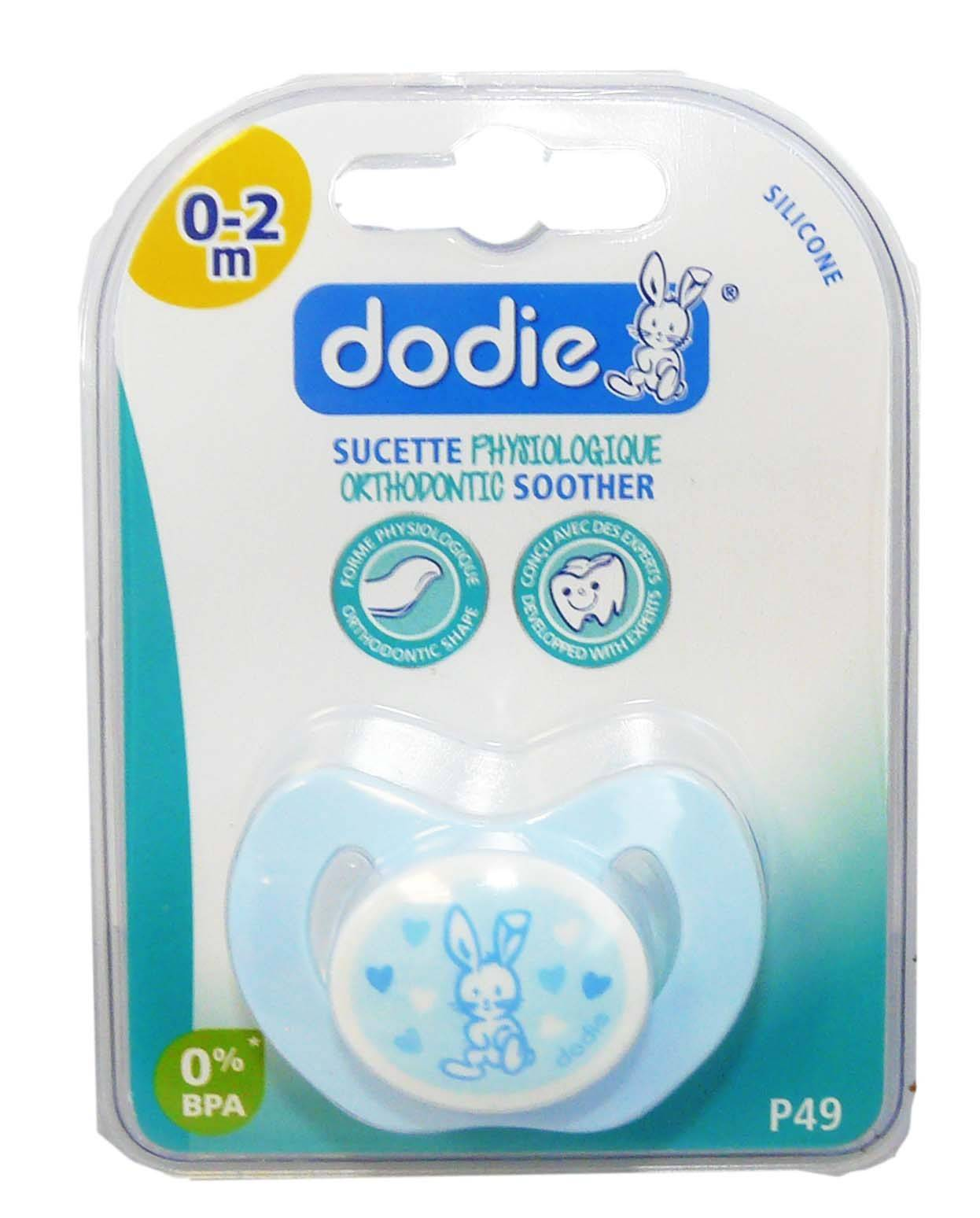 Dodie sucette orthodontic silicone 0-2 mois p49