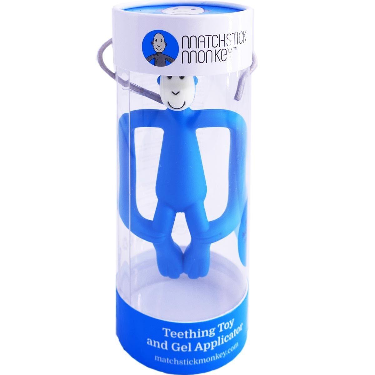 Matchstick monkey anneau dentition singe bleu