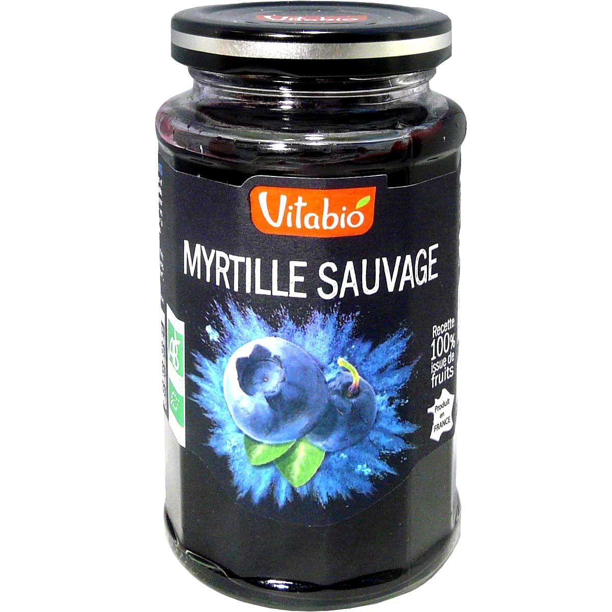 Vitabio delice myrtille sauvage bio 290g