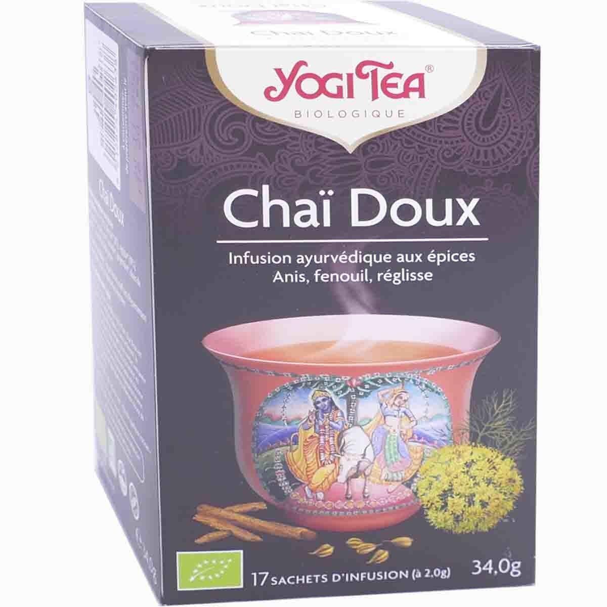 Yogi tea chai doux infusion 17 sachets 2.0 g