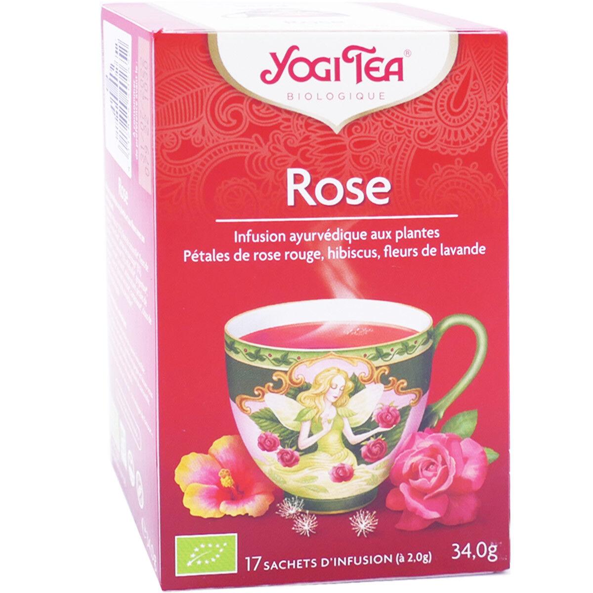 Yogi tea rose 17 sachets d'infusion 34g