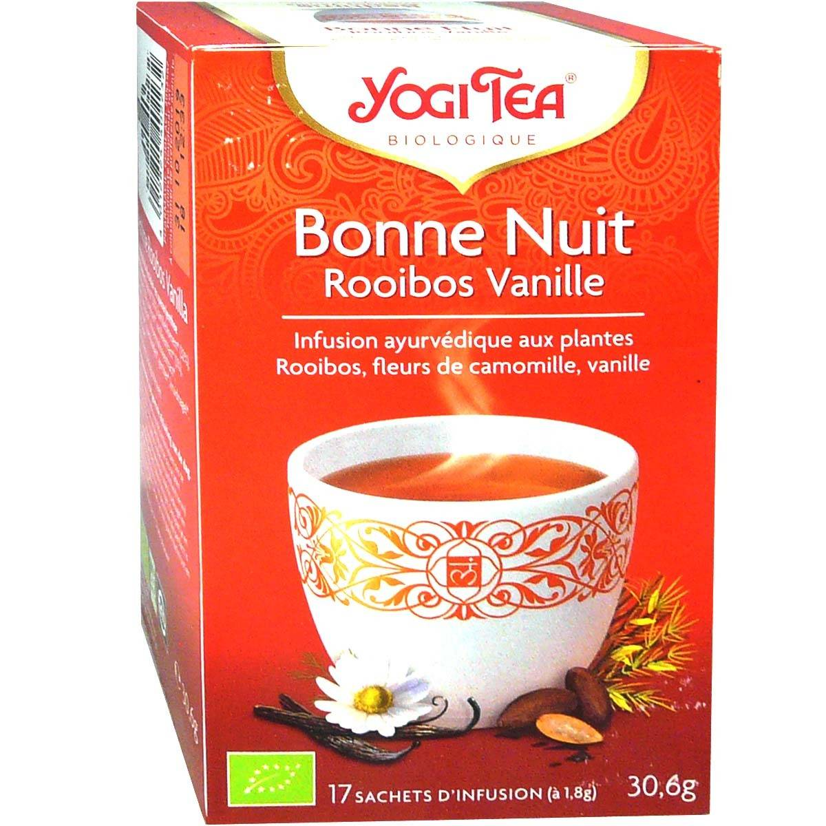 Yogi tea infusion rooibos vanille bonne nuit x17 sachets