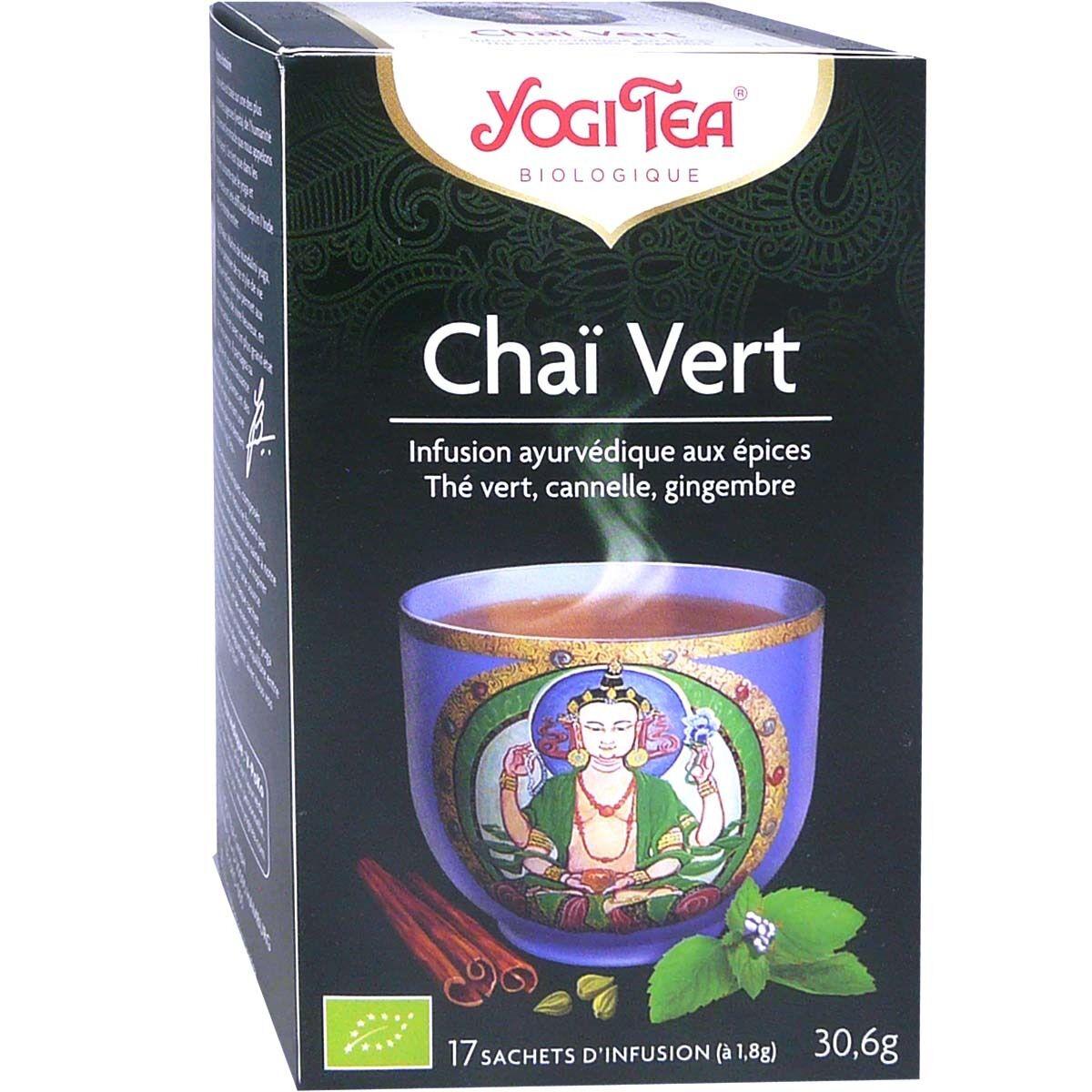 Yogi tea infusion chai vert x17 sachets
