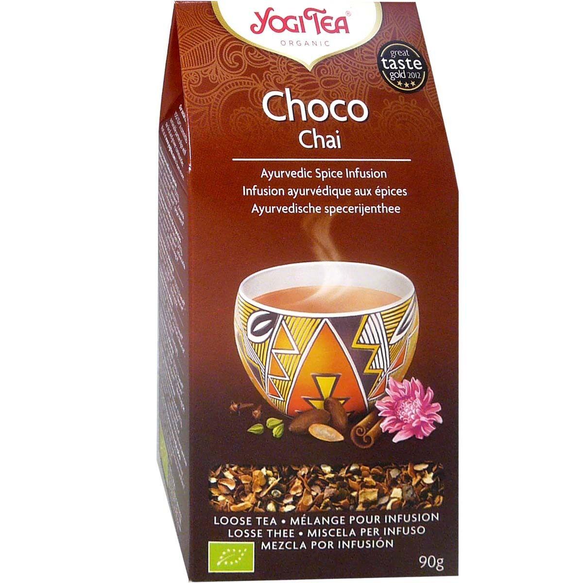 Yogi tea choco chai melange aux epices pour infusion 90g