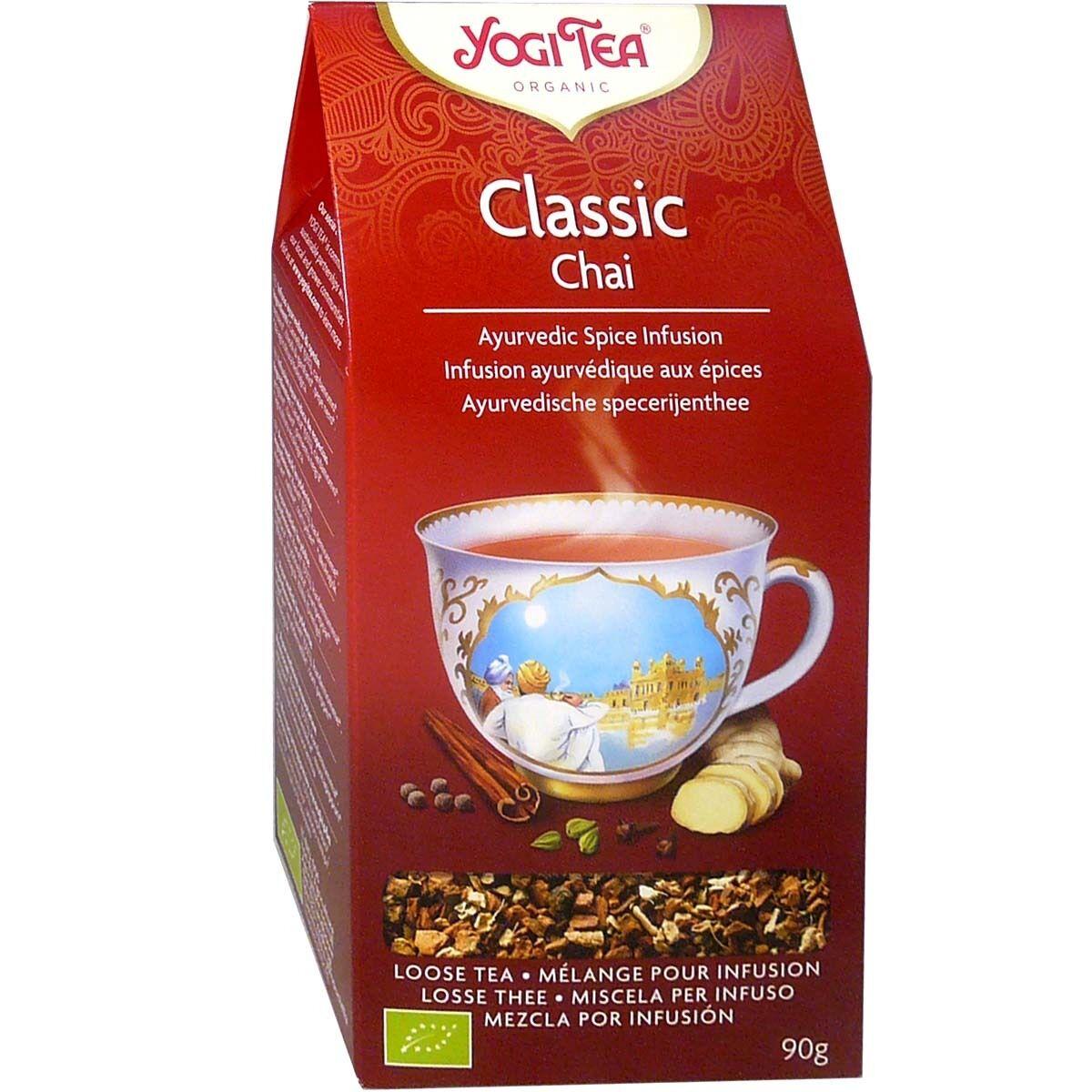Yogi tea classic chai melange aux epices pour infusion 90g