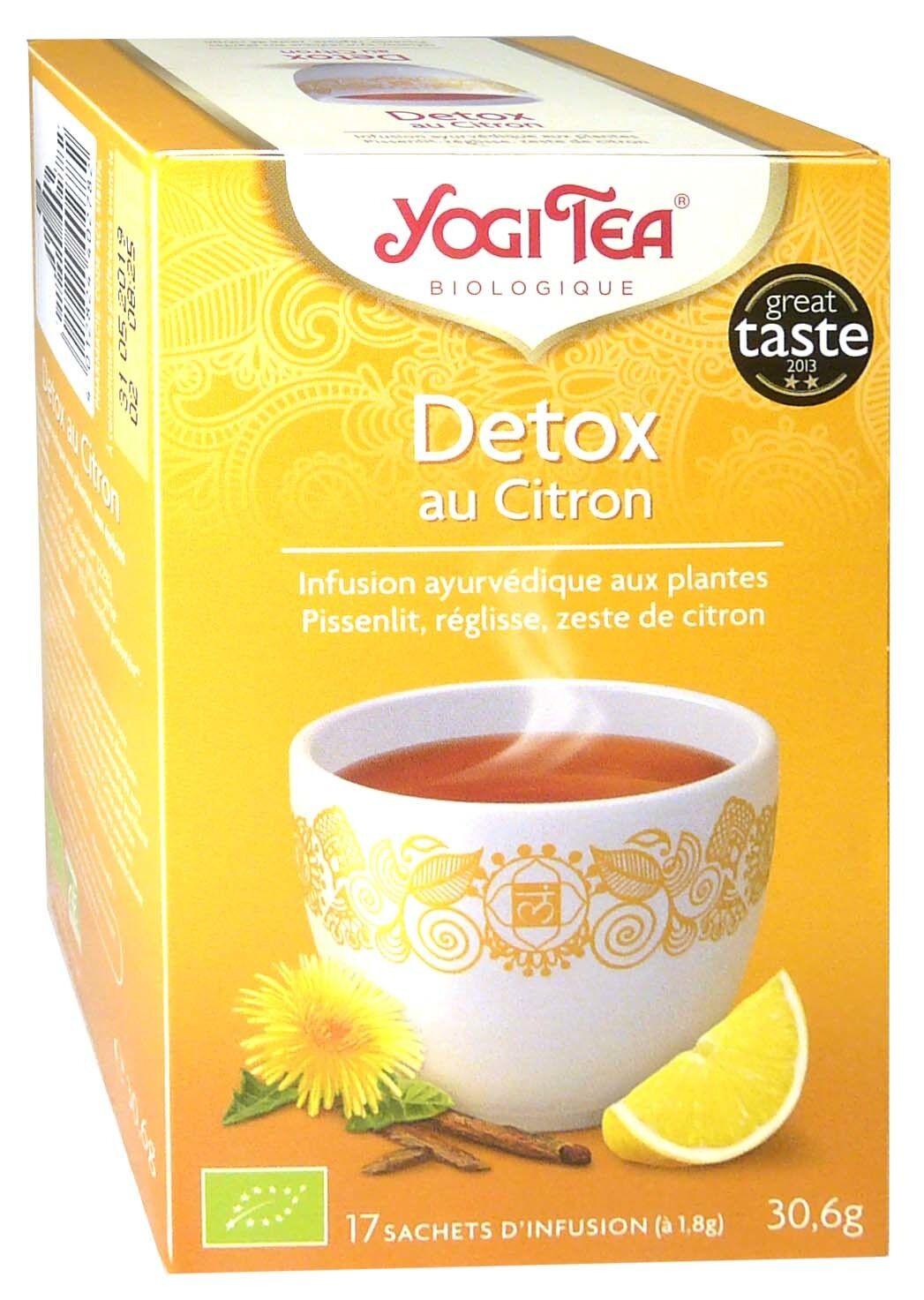 Yogi tea infusion detox au citron x17 sachets