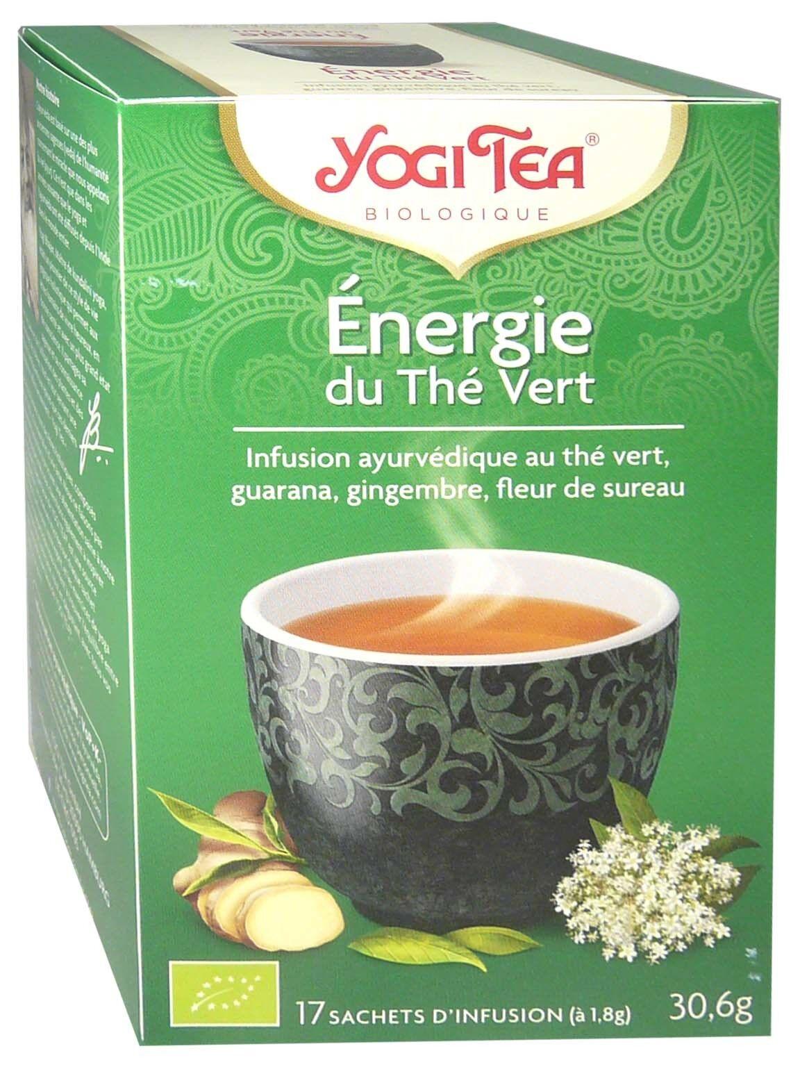 Yogi tea infusion energie du the vert x17 sachets