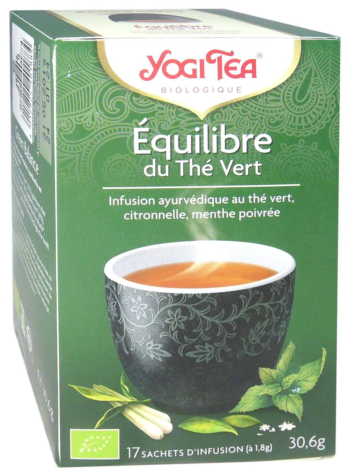 Yogi tea infusion equilibre du the vert x17 sachets