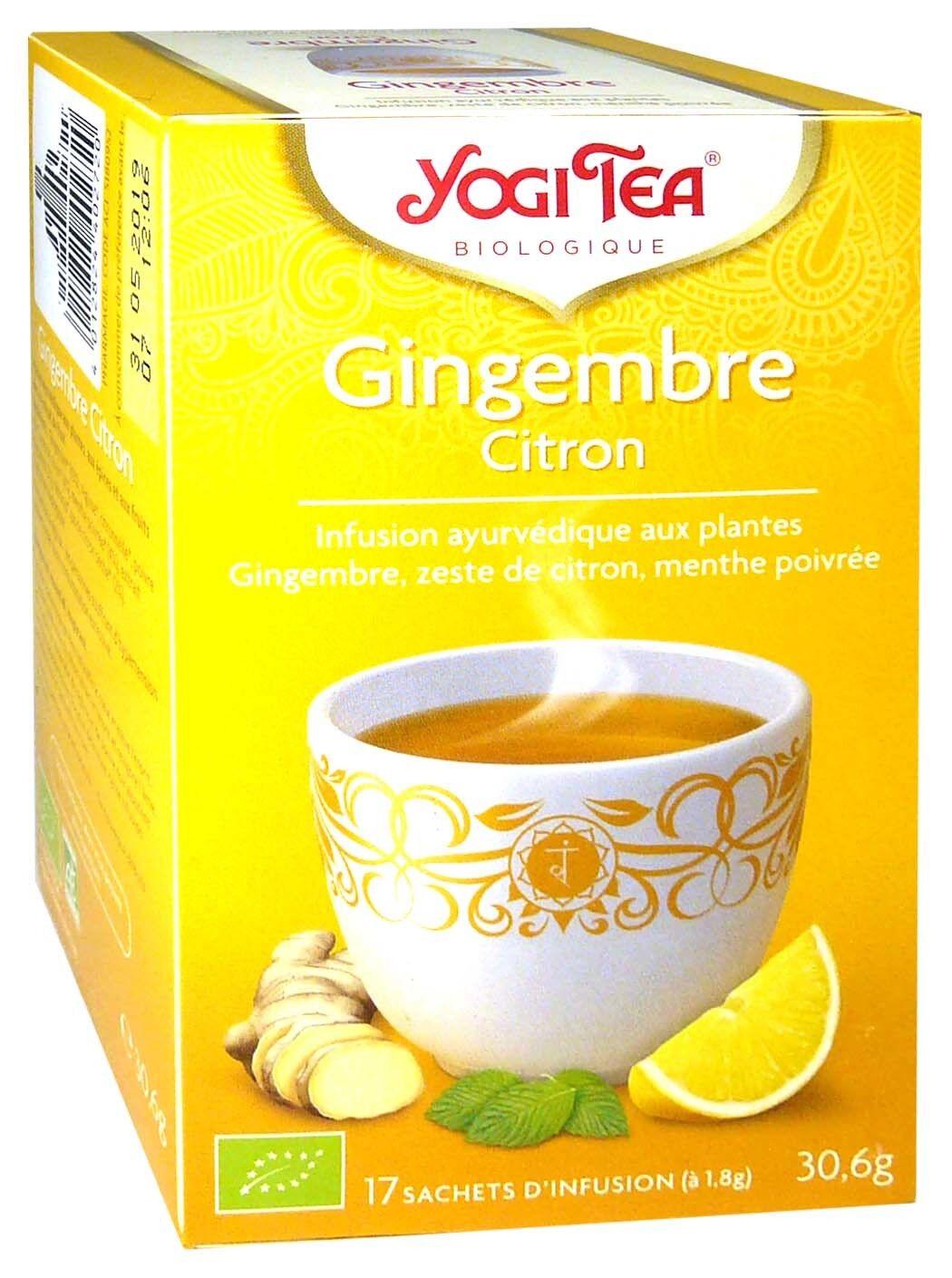 Yogi tea infusion gingembre citron x17 sachets