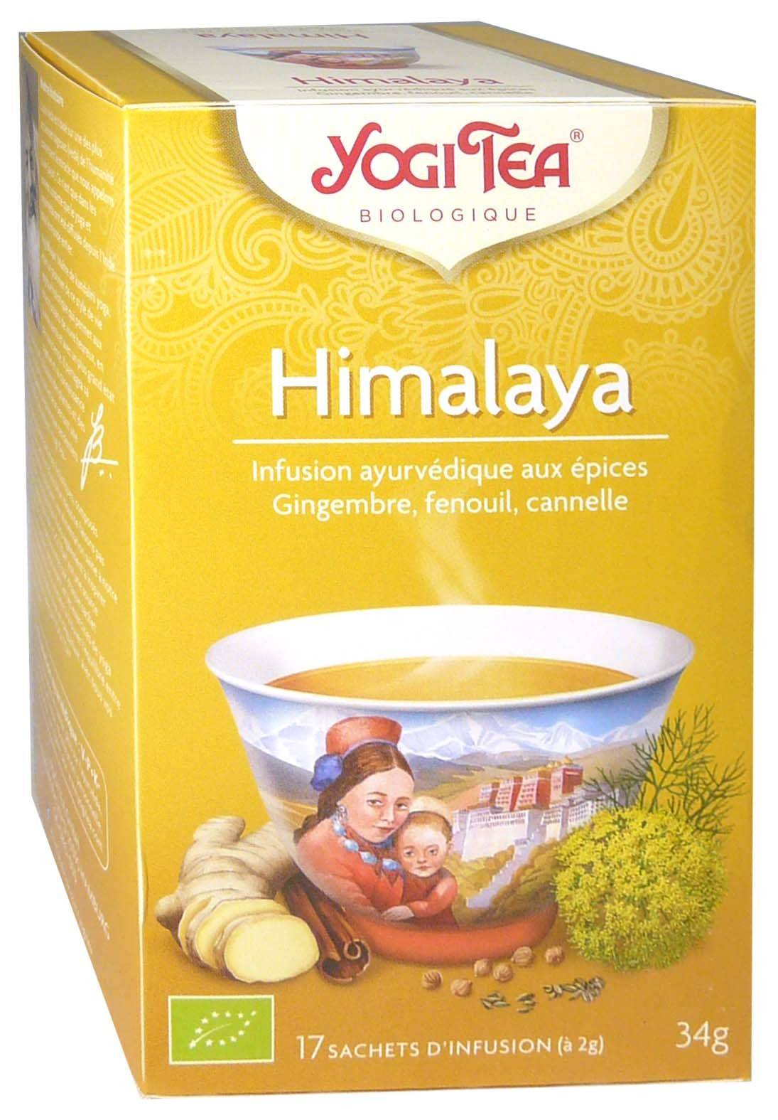 Yogi tea infusion himalaya x17 sachets